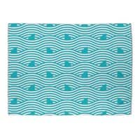 WAVES OF SHARKS - rug-landscape - small view