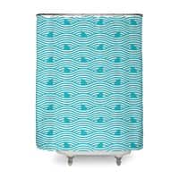 WAVES OF SHARKS - shower-curtain - small view