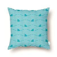 WAVES OF SHARKS - throw-pillow - small view