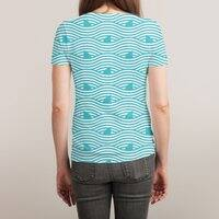 WAVES OF SHARKS - womens-sublimated-triblend-tee - small view