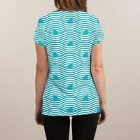 WAVES OF SHARKS - womens-sublimated-v-neck - small view