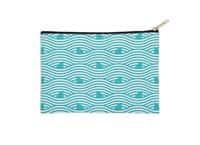 WAVES OF SHARKS - zip-pouch - small view