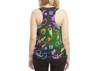 Moon Patrol - womens-sublimated-racerback-tank - small view