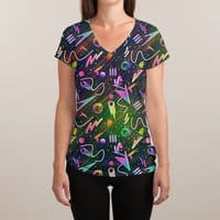 Moon Patrol - womens-sublimated-v-neck - small view