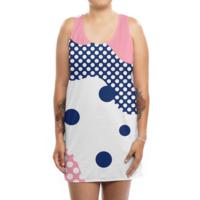 Polka Dots Fantasy - womens-sublimated-tank-dress - small view