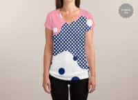 Polka Dots Fantasy - womens-sublimated-v-neck - small view