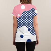 Polka Dots Fantasy - womens-sublimated-v-neck - small view