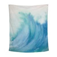 Watercolor Wave  - indoor-wall-tapestry-vertical - small view