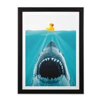 Save Ducky - black-vertical-framed-print - small view