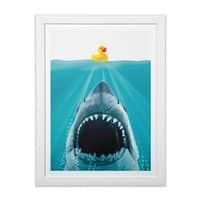 Save Ducky - white-vertical-framed-print - small view