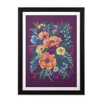 Wild Flowers - black-vertical-framed-print - small view