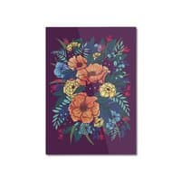Wild Flowers - vertical-mounted-aluminum-print - small view