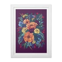Wild Flowers - white-vertical-framed-print - small view