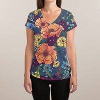 Wild Flowers - womens-sublimated-v-neck - small view
