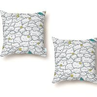 A Cloudy Night - throw-pillow - small view