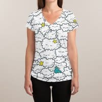 A Cloudy Night - womens-sublimated-v-neck - small view