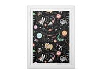 Space Pets - white-vertical-framed-print - small view