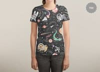 Space Pets - womens-sublimated-triblend-tee - small view