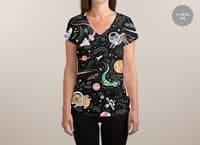 Space Pets - womens-sublimated-v-neck - small view