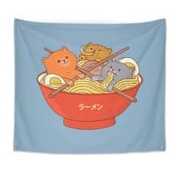 Ramen and cats  - indoor-wall-tapestry - small view