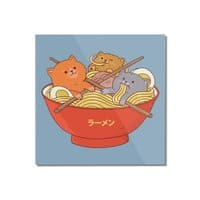 Ramen and cats  - square-mounted-acrylic-print - small view
