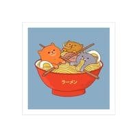 Ramen and cats  - square-print - small view