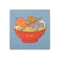 Ramen and cats  - square-stretched-canvas - small view