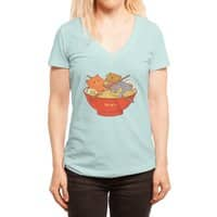 Ramen and cats  - womens-deep-v-neck - small view