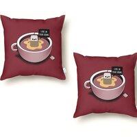 Hot Tea - throw-pillow - small view