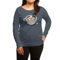Hot Tea - womens-long-sleeve-terry-scoop - small view