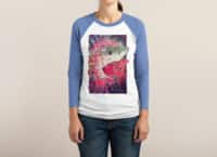 SHARK FROM OUTER SPACE - triblend-34-sleeve-raglan-tee - small view