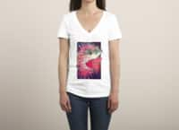 SHARK FROM OUTER SPACE - womens-deep-v-neck - small view
