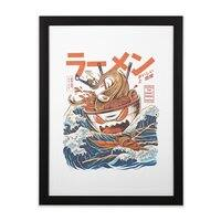 The Great Ramen off Kanagawa - black-vertical-framed-print - small view