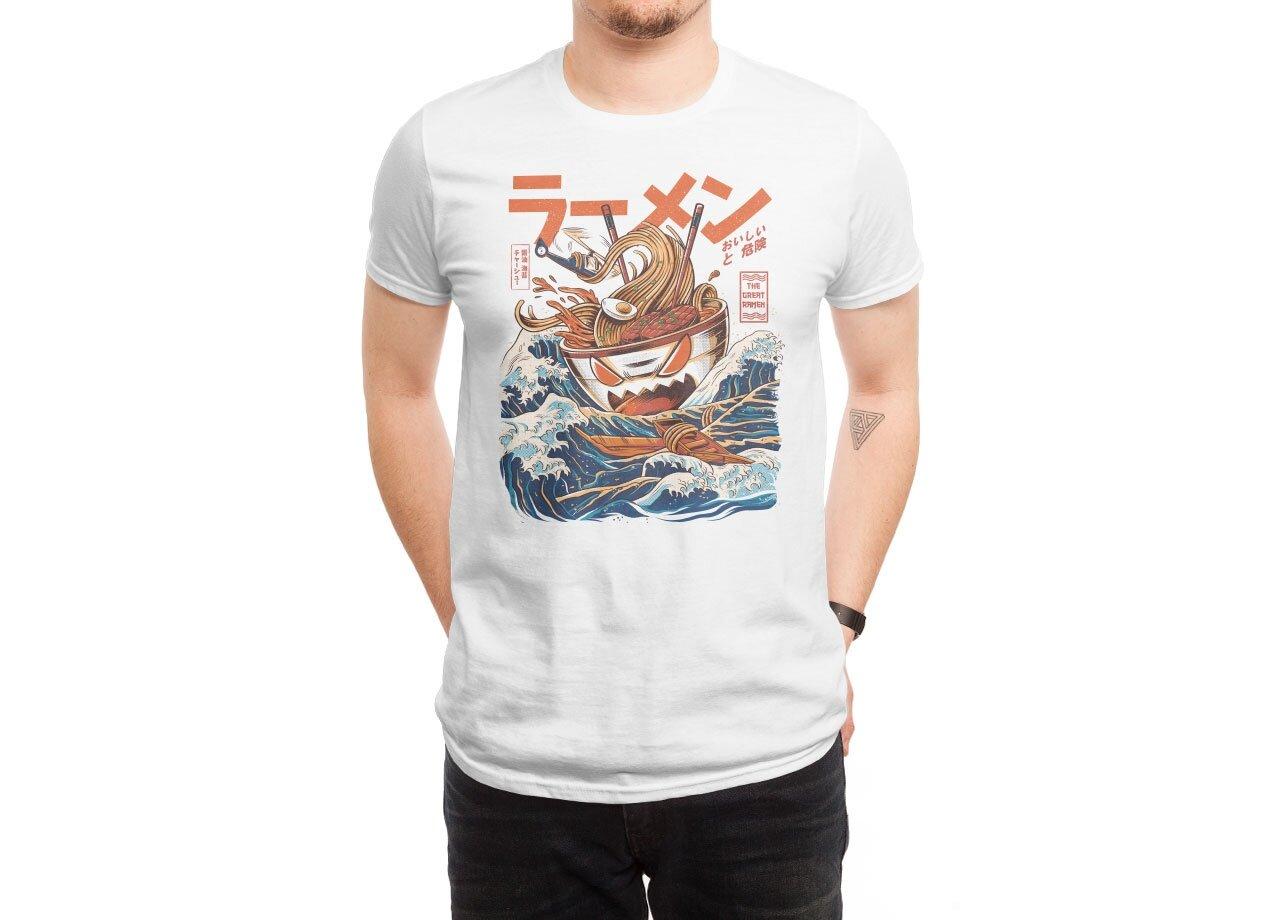 the great ramen off kanagawa by ilustrata threadless - White T Shirt Design Ideas