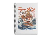 The Great Ramen off Kanagawa - spiral-notebook - small view