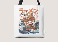 The Great Ramen off Kanagawa - tote-bag - small view