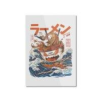 The Great Ramen off Kanagawa - vertical-mounted-aluminum-print - small view