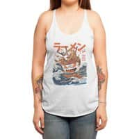 The Great Ramen off Kanagawa - womens-triblend-racerback-tank - small view