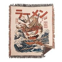 The Great Ramen off Kanagawa - woven-blanket - small view