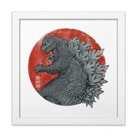 Tokyo Kaiju - white-square-framed-print - small view
