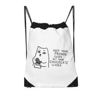 Keep Your Friends Close But Your Chocolate Closer - drawstring-bag - small view