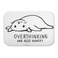 Overthinking and also Hungry - bath-mat - small view