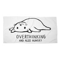 Overthinking and also Hungry - beach-towel-landscape - small view