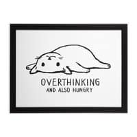 Overthinking and also Hungry - black-horizontal-framed-print - small view