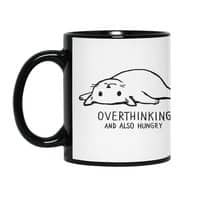 Overthinking and also Hungry - black-mug - small view