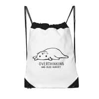 Overthinking and also Hungry - drawstring-bag - small view