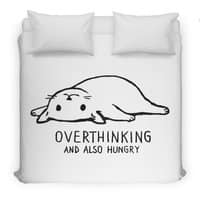 Overthinking and also Hungry - duvet-cover - small view