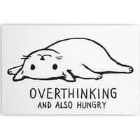 Overthinking and also Hungry - horizontal-canvas - small view