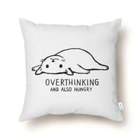Overthinking and also Hungry - throw-pillow - small view