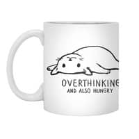 Overthinking and also Hungry - white-mug - small view